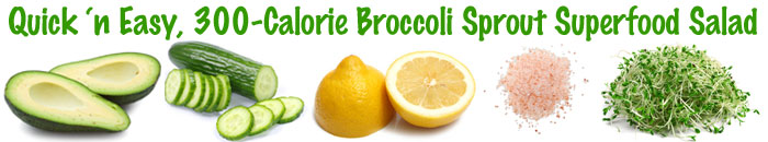 Broccoli Sprout Salad Ingredients