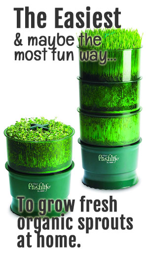 Freshlife 3000 Automatic Sprouter for growing broccoli sprouts at home